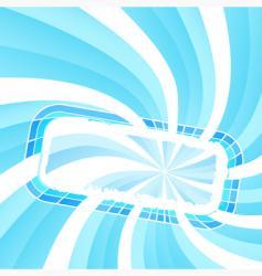 spiral light frame vector image