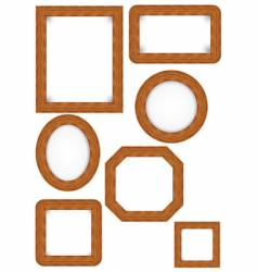 wooden photo frames vector image vector image