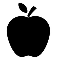 apple icon on white background flat style apple vector image