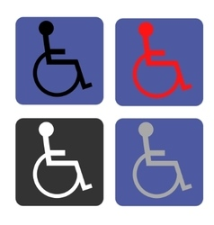Disabled icon Human on wheelchair symbol vector image vector image