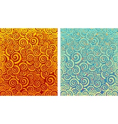 Fire and water backgrounds vector image vector image