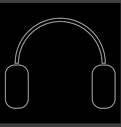 headphone the white path icon vector image