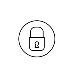 lock line icon mobile sign and security vector image vector image