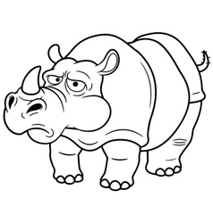 Rino outline vector image vector image
