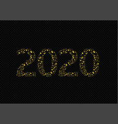 2020 broken golden numbers vector image