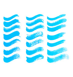 abstract watercolor blue brush strokes isolated on vector image