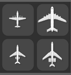 airplane top view plane and vector image