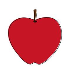 apple whole fruit icon image vector image