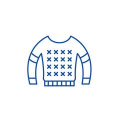 blouse line icon concept blouse flat vector image