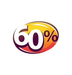 bold sixty percent vector image