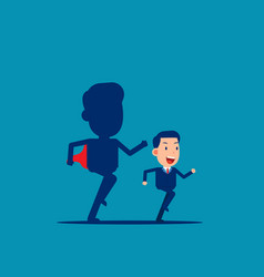 Business ambition shadow confident vector