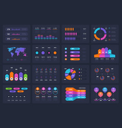Business infograph elements workflow chart vector