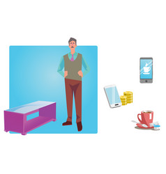 businessman worker employee in casual clothes vector image