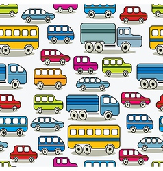 Cartoon retro cars seamless pattern vector image