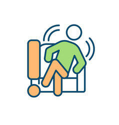 Chair-based fidgeting rgb color icon vector