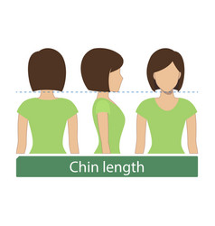 Chin length hair vector