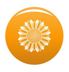 Circle of sunflower icon orange vector