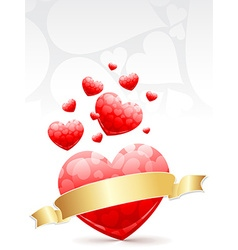 collection of hearts for love vector image