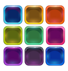 Colorful glossy app icon frames vector