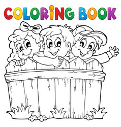 Coloring book children theme 1 vector