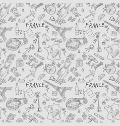 contour seamless pattern 3 travel to europe vector image