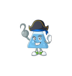 Cool pirate blue chemical bottle cartoon design vector