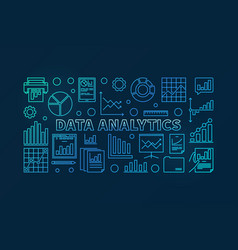 Data analytics concept blue vector