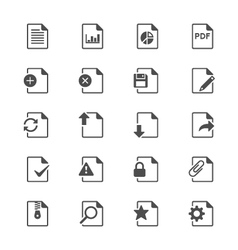 Document flat icons vector