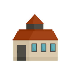 Farm house icon flat style vector