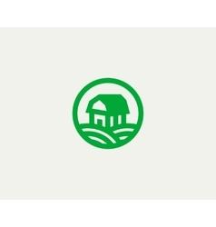 Farm house logotype Natural organic vector