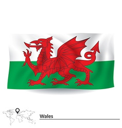 Flag of Wales vector