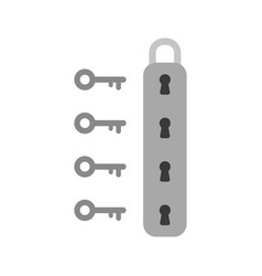 flat design style concept of padlock icon with vector image