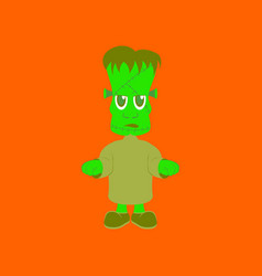 Flat on background of zombie men vector