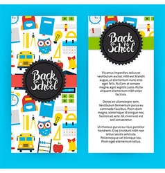 Flyer template back to school vector