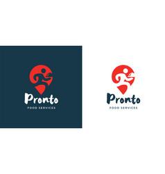 food delivery logo icon vector image