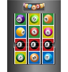 Fruit Machine and jackpot background vector image