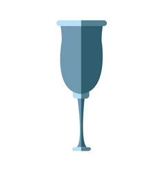 glassware crystal for beverage icon vector image