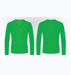 green long sleeve t shirt vector image