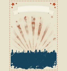 Grunge fourth of july poster vector