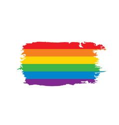 Grunge rainbow flag vector