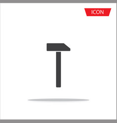 hammer icon isolated on white background vector image