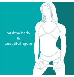healthy body beautiful figure vector image
