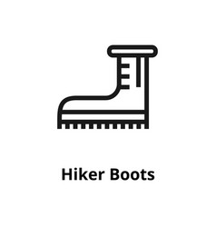 hiker boots line icon vector image