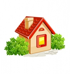 house in countryside vector image
