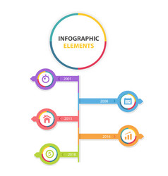 infographic elements modern chart with three optio vector image