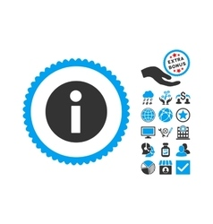 Information Flat Icon With Bonus vector image