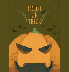 Jack olantern halloween theme invitation card vector