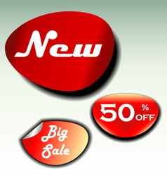 labels for big sale new and discount vector image