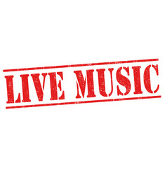 Live music sign or stamp vector