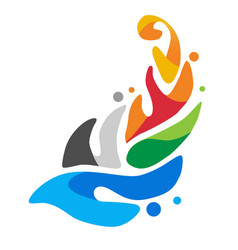 logo of the european games in minsk 2019 vector image